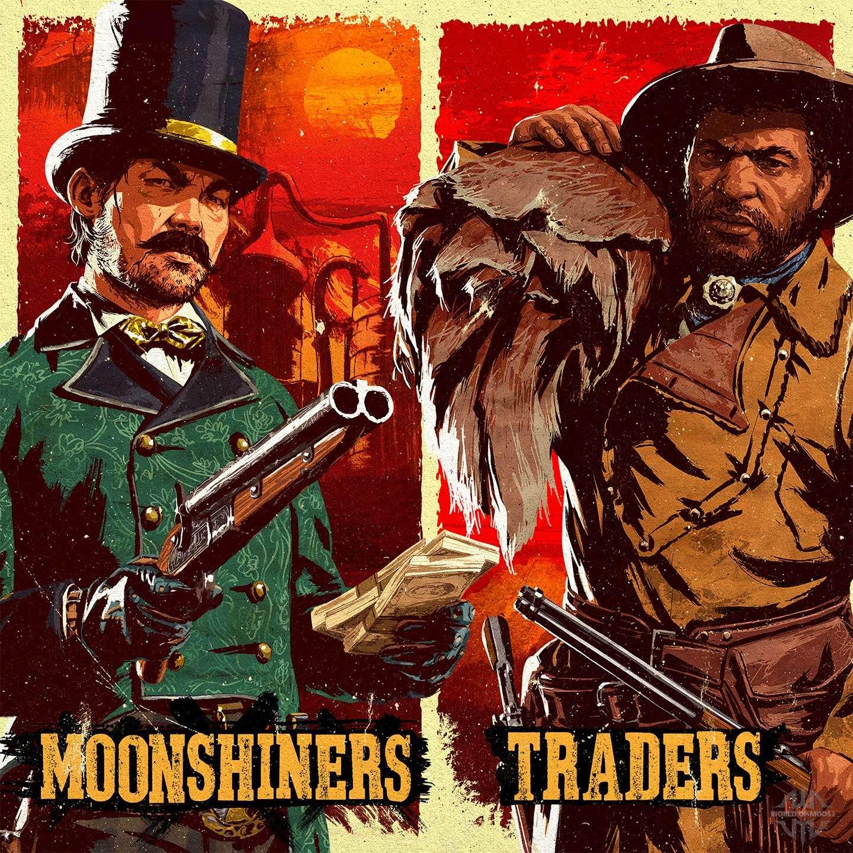Mercadores e Moonshiners em Red Dead Online