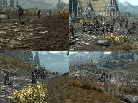 Mais uma guerra sobre o Skyrim para a quarta tela Skyrim