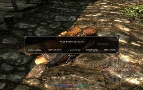 Limpeza de cadáveres para Skyrim quinto tela