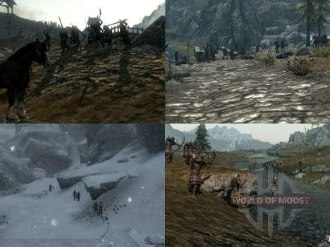 Mais uma guerra sobre o Skyrim para Skyrim segunda tela
