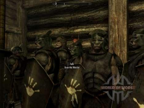 Lurz Uruk-Hai e coloração de orcs Uruk-Hai para a terceira tela Skyrim