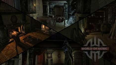 Mansão sinistra para a terceira tela Skyrim