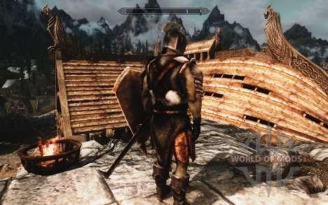 Um conjunto de armaduras e armas de Uruk-Hai para a quarta tela Skyrim