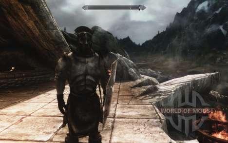 Um conjunto de armaduras e armas de Uruk-Hai para Skyrim segunda tela
