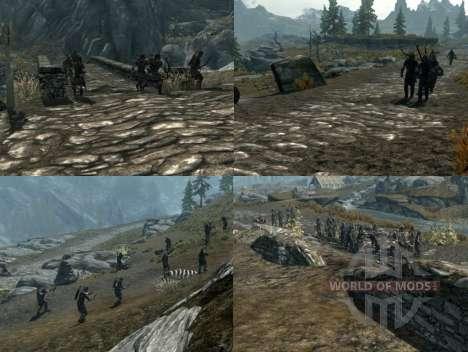 Mais uma guerra sobre o Skyrim para Skyrim quinto tela