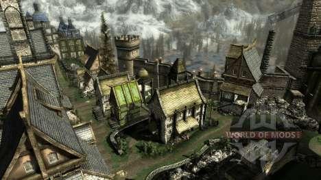 Uma pequena casa em Solit′ûde para a quarta tela Skyrim