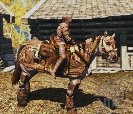 Armaduras para cavalos para a terceira tela Skyrim