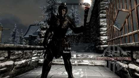 Preto-e-ouro-alfesca armadura para Skyrim segunda tela