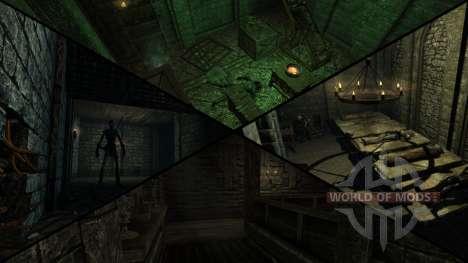 Mansão sinistra para a quarta tela Skyrim