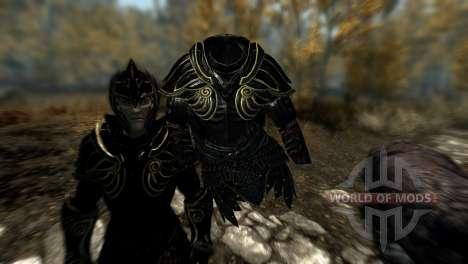 Preto-e-ouro-alfesca armadura para Skyrim quinto tela