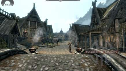 Widget de relógio de HUD para Skyrim