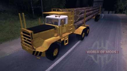 Caminhão de madeira Hayes HQ 142 (HDX) com semi-reboque para Spin Tires