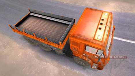 KAMAZ-65117 muddy-laranja para Spin Tires