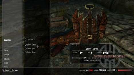 Vestuário de protecção Cícero para Skyrim segunda tela
