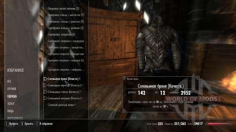 Superior encantando armaduras solovinoj para Skyrim segunda tela