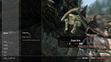 Ossos de drakonih de perda de peso para Skyrim
