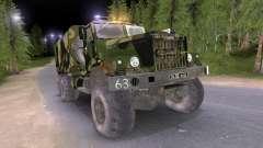 KrAZ caminhão Camo v2 para Spin Tires