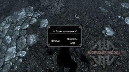 Procure o mapa para o lobisomem e vampiro para Skyrim