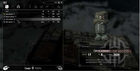 O conjunto de armadura duvakina para a quarta tela Skyrim
