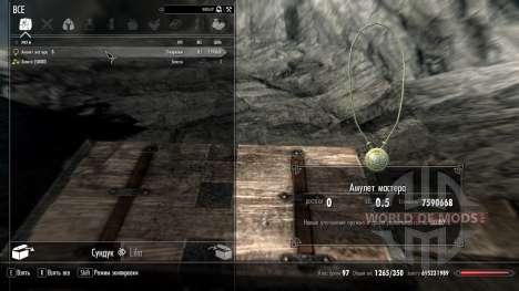 Amuleto assistente para Skyrim