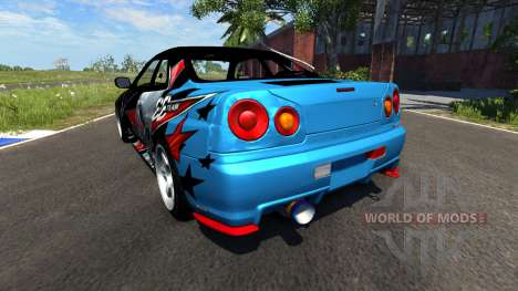 Nissan Skyline R34 GT-R Evil Empire para BeamNG Drive