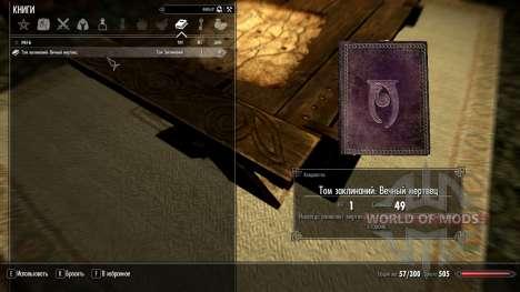 Eterna mortos para Skyrim segunda tela
