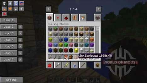 Espaçoso mochilas para Minecraft