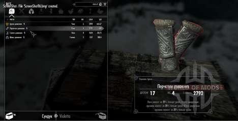 O conjunto de armadura duvakina para Skyrim quinto tela