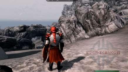 A armadura e as armas do Cavaleiro do dragão de dota 2 para Skyrim