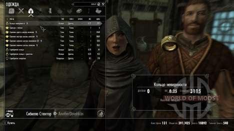 Anel invisível para Skyrim