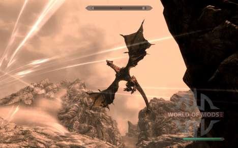 A armadura e as armas do Cavaleiro do dragão de  para a quarta tela Skyrim