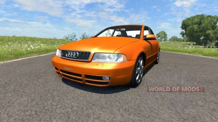 Audi S4 2000 [Pantone Orange 021 C] para BeamNG Drive