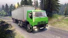 KamAZ-6522 na cor verde para Spin Tires