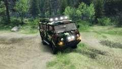 UAZ-3909 fora-de-estrada v2.0 para Spin Tires