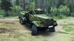 KrAZ-255B CA 8.5 Inflamáveis v2.0 para Spin Tires