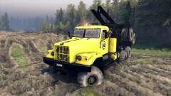 KrAZ-255B em uma cor amarela-KrAZ 88- para Spin Tires