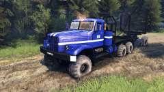 KrAZ-255B na cor azul-KrAZ de Energia 8- para Spin Tires