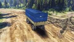 Atrelado tenda para ZIL-133 G1 e ZIL-133 GA para Spin Tires