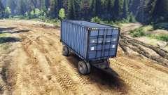 Trailer-recipiente para ZIL-133 G1 e ZIL-133 GA para Spin Tires