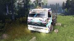 Cor Hatsune Miku Corrida para a KAMAZ-6520 para Spin Tires