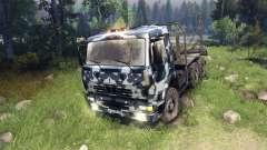 KamAZ-6520 camo v3 para Spin Tires