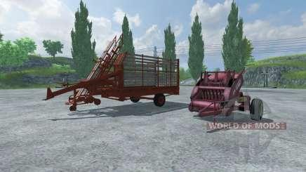 Enfardadeira de fardos e fardos de captação de para Farming Simulator 2013