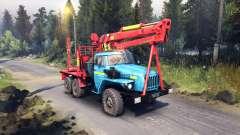 Vermelho-azul para colorir sobre os montes Urais-4320 para Spin Tires
