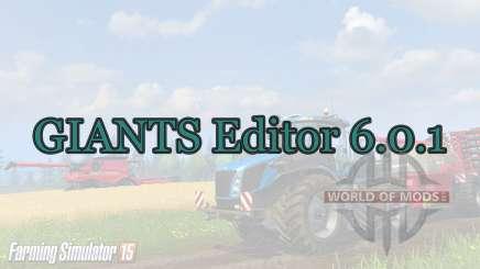 GIANTS Editor 6.0.1 para Farming Simulator 2015