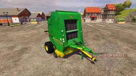 Enfardadeira John Deere 590 v2.0 para Farming Simulator 2013