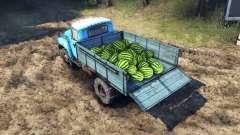 A carga de melancia e pedras para Spin Tires