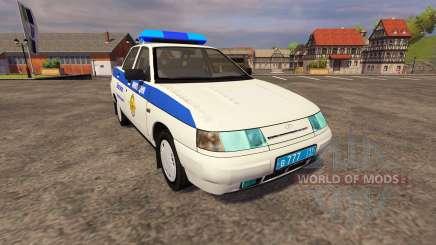 VAZ 2110 Polícia para Farming Simulator 2013