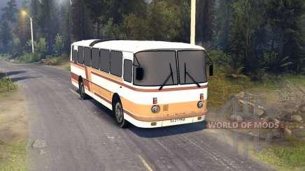 ЛАЗ-699Р laranja-marrom listras para Spin Tires