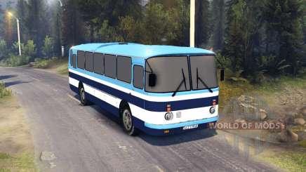 ЛАЗ-699Р listras azuis para Spin Tires