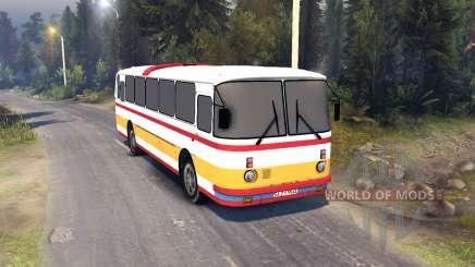 ЛАЗ-699Р vermelho-laranja listras para Spin Tires